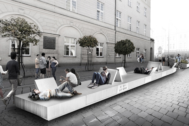 Urban furniture in Opole, Poland